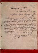 Courrier Espagne Lanas Y Pieles Barzano San Sebastian 30-09-1899 - écrit En Français - Espagne