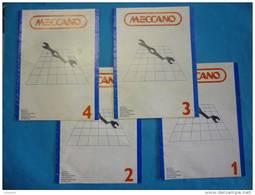 Anciens Catalogues MECCANO Notices De Montage N° 1 -2 -3 -4 ( Voir 2 Photos Et Descriptif ) - Meccano