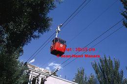 Reproduction D'une Photographie D'une Télécabine N°33 à Madrid En Espagne En 1972 - Reproductions