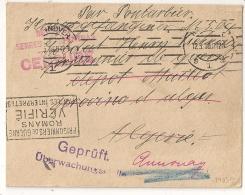 RARE AINSI, Pour Dépot Maillot ALGERIE TIZI OUZOU Puis ANNONAY SERRES CARPENTRAS PRISONNIER DE GUERRE Allemand. HANNOVER - Guerre De 1914-18