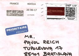 France Letter-frontpart 2017 ... AI178 With Company Stamp EUR 2,13 - France