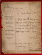 Courrier Espagne José Miguel Olivan Plaza Del Arzobispo Burgos 7?-10-1899 - écrit En Espagnol - Espagne