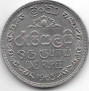 *ceylon 1 Rupee  1965  Km 133   Unc - Sri Lanka