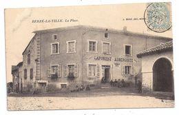 CPA Berzé La Ville 71 Saône Et Loire La Place Laforest Aubergiste Auberge Tabac Animée éditeur Michel - France