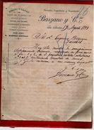 Courrier Espagne Lanas Y Pieles Barzano San Sebastian 19-08-1899 - écrit En Français - Espagne