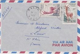 TOGO LETTRE DE PALIME 1958 - Covers & Documents