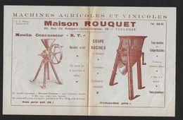 Toulouse - Maison ROUQUET - Machines Agricoles - Publicités