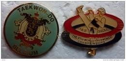201411-SEOUL-TAEKWONDO-1989- 2 PINS RARES - Judo