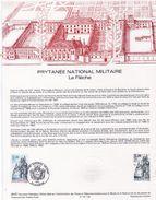 Document De La Poste - Histoire Du Timbre Poste - Prytanée Nationale Militaire La Flèche - 20 Juin 1987 - Documenten Van De Post