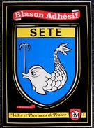 CPSM - Carte Postale Autocollant Adhésif - Blason Ville De SETE (34) Editions KROMA N° 318 - Pegatinas