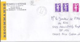 ALPES MARITIMES - 06 - CANNES  ALEXANDRE III AP  TàD De Type A9 De 1992 - Matasellos Manuales