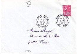 ALPES MARITIMES - 06 - NICE MADELEINE GA   TàD De Type A9 De 1978 - Bolli Manuali