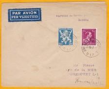 1945 - Enveloppe De Bruxelles PAR AVION Vers Pornichet, France - Reprise Du Service Postal Aérien - Airmail