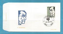 FDC 1972  FR. MASEREEL SCHILDER. 1 Enveloppe...ZIE SCAN.   !!!  SUPER SALE !!! ... FD138 - 1971-80