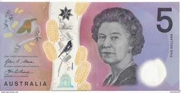 AUSTRALIE - 5 Dollars 2016 - UNC - Pick New - Decimal Government Issues 1966-...