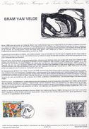 Document De La Poste - Histoire Du Timbre Poste - Bran Van Velde - 25 Avril 1987 - - Documentos Del Correo