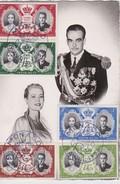 MONACO 1956  CARTE MAXIMUM - Maximum Cards