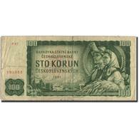 Tchécoslovaquie, 100 Korun, 1961, 1961, KM:91b, B - Tchécoslovaquie