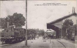 72 - Bonnétable (Sarthe) - La Gare Du Chemin De Fer De Mamers à Saint-Calais - Bonnetable