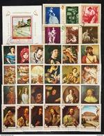 ROMANIA - 55 Postal Stamps ART REPRODUCERS (2) - Briefmarken