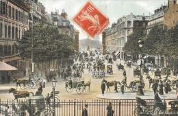 Paris 8e Arrondissement - Rue Royale, Grosse Animation: Attelages - Edition L.V. & Cie - Carte Aqua-Photo Colorisée - District 08