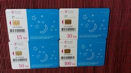 Set 4 Different Cards Croatia Rare - Croatie