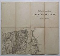 Mappa Su Tela _ BOLLADELLO _ CARTA TOPOGRAFICA DEL CAMPO DI SOMMA _  Scala 1 : 20.000 _ VARESE _ LOMBARDIA - Carte Topografiche