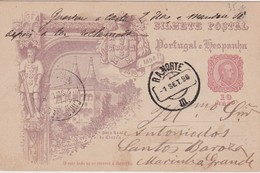 PORTUGAL 1898 ENTIER POSTAL CARTE ILLUSTREE - Postwaardestukken