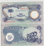 Biafra 5 Shillings (1968-69)  Pick 3a UNC - Banconote