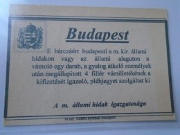 DEL003.14  Hungary   Budapest  4 Fillér Vámilleték  FAKE - Hongrie
