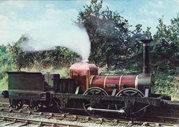 Railway Postcard Liverpool & Manchester Lion 0-4-2 Loco Titfield Thunderbolt - Trains