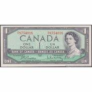 TWN - CANADA 74b - 1 Dollar 1954 R/Y 8754016 - Signatures: Beattie & Rasminky AU/UNC - Canada