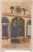 Old Postcard Israel SAFAD Inside The Ari Synagogue Synagoge Folded CPA - Israel