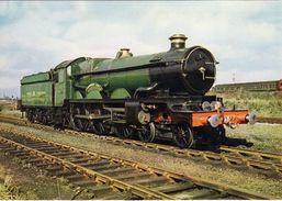 Railway Postcard GWR 4079 Pendennis Castle Didcot Great Western 4-6-0 Loco - Trains
