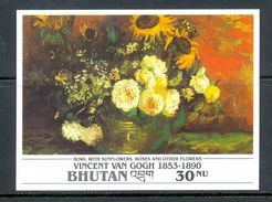 BHUTAN * IMPERFORATED BLOCK 1v YEAR 1991 *  VINCENT VAN GOGH ART PAINTER PAINTINGS * MNH - Bhutan