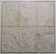 MAPPA SU TELA _ GOITO (Mantova) _ Cerlungo, Castel Grimaldo, Marlesco _ Scala 1 : 21.600 - Carte Topografiche