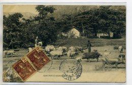 TONKIN ILES  POULO CONDORE CONDOR  Carte RARE La Porcherie Gardiens Cochons  Pénitencier Bagne  /D14-S2017 - Vietnam