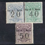 STATE OF SAN MARINO   SAN MARINO TAX 1924 MH* VALUE € 330,00 - Timbres-taxe
