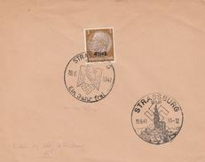 ALSACE LORRAINE N° 8 SEUL S/ LETTRE - 2 OBLITÉRATIONS STRASBOURG 6/1941 - Alsace-Lorraine