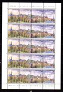 1995,vue Panoramique De La Ville De Luxembourg, 2 X  1316 A **en Feuillet De 5, Cote 60 €, - Full Sheets