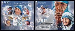 S. TOME & PRINCIPE 2010 - Mother Teresa - YT 3578-83 + BF561 - Mother Teresa
