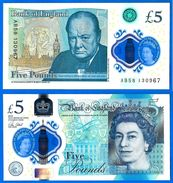 Royaume Uni 5 Pounds 2016 NEUF UNC Serie AB Polymer Pound Grande Bretagne UK United Kingdom Queen 2 Que Prix + Port - 1952-… : Elizabeth II