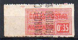 Algérie Colis-Postaux N° 12 Neuf * Avec Rouille - Variété 'Non Dentelé Verticalement' - Parcel Post