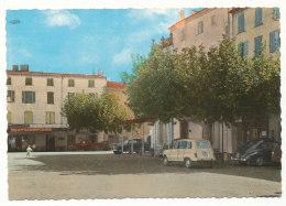 Roquebrune-sur-Argens - La Place Alfred Perrin - Bar-Tabac - Voitures 4L,2CV,203... - Roquebrune-sur-Argens
