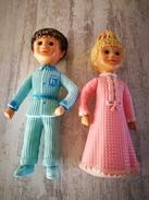 Ancienne Figurines Nicolas Et Pimprenelle En Plastique - Other