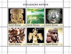 GUINEA BISSAU 2003 - Aztec Civilization - Mi 2200-5, YT 1270-5 - Non Classés