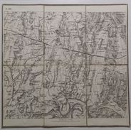 MAPPA SU TELA _ CASTELNOVO Del Garda (E.III.) _ CON TIMBRO A SECCO REAL CORPO DI STATO MAGGIORE _ SCALA DI 1 : 21,600 - Carte Topografiche