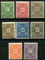 Mauritanie (1914) Taxe N 17 à 24 * (charniere) - Mauritanie (1906-1944)