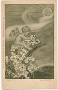 Art Card Ein Liebesbrief Cupid  Kunstler No 142 Bayerle Munchen - Angels