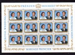 1981,  Mariage Royal Du Grand –duc Henri, 10 X  986**en Feuilles  De 12, Cote 108 €,  Sous Le Prix Poste - Full Sheets